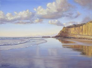 Beach painting by Karenn fedderson
